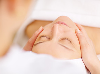 Picture of gentle face massage